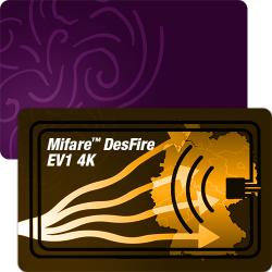 Mifare™ DesFire 4K RFID Plastikkarten