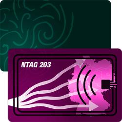 RFID Chipkarte mit NTAG 203 Chip